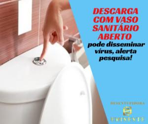 Descarga com Vaso Sanitário Aberto